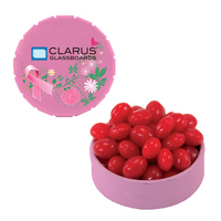 Breast Cancer Awareness Tin with Cinnamon Red Hots