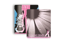 "Breast Cancer Awareness 2.5"" x 3.5"" Lanyard Gift Card"