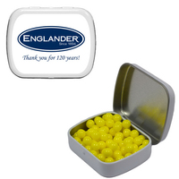 Small White Tin with Colored Candy