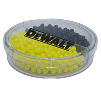Acrylic Full Moon Container with Colored Candy