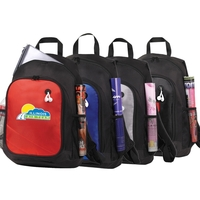 Metallic Doby Multi-Pocket Padded Computer Backpack