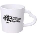 14 oz. White Heart Handle Mug