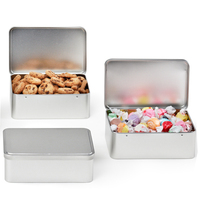 Rectangle Hinged Lid Tin Box, Cookies