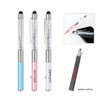 Crystal Stylus Metal Pen with Laser Pointer
