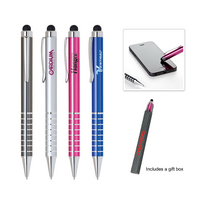 2 in 1 twist screen touch pen