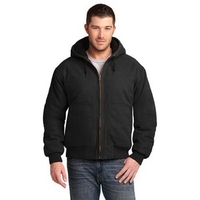 CornerStone Washed Duck Cloth Insulated Hooded Work Jacket.