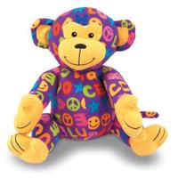 Ricky Monkey Patterned Plush Stuffed Animal