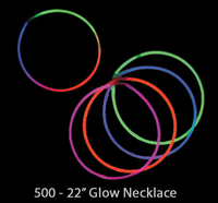 "Light Up Glow Necklaces 22"", Sticks, Bracelets & Variety"
