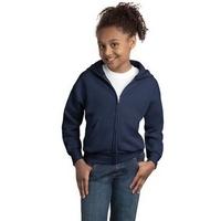 Hanes - Youth EcoSmart Full-Zip Hooded Sweatshirt.