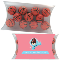 Medium Pillow Pack with Chocolate Sports Balls Basketballs
