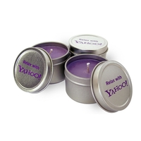 2 oz. Round Soy Travel Tin Candle