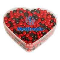 Heart Show Piece w/Corporate Color Chocolates
