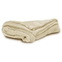 Ivory Micro Fleece Throw Blanket