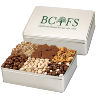 Gourmet Classics Tin Filled with Nuts, Raisins and Toffee