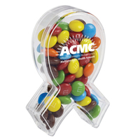 Ribbon Of Hope Candy Container With Candy Coated Chocolate