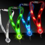 "32"" Light Up Glow LED Flat Lanyard"