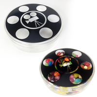 Plastic Movie Reel Round Shape Jar Container with Hard Candy