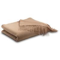 Camel Tan Cashmere Throw Blanket
