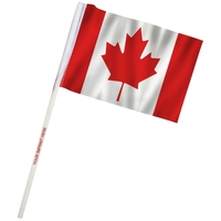 "4"" x 6"" Canada Imprinted Staff Polyester Stick Flags"
