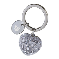Caged Heart Gem Key Chain
