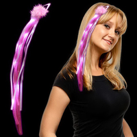 Pink LED Ribbon Fascinator
