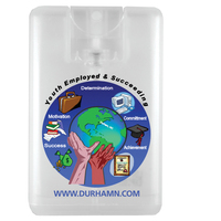 20 ml. Antibacterial Hand Sanitizer Spray in Credit Card Sha