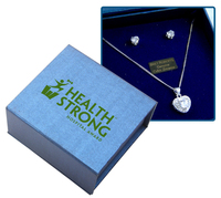 Cubic Zirconia Heart Earrings and Necklace