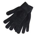Black Chenille Men's Glove