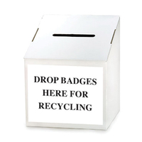 Table Top Disposable Cardboard Ballot Box 5 Pack