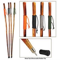 """55"""" Wooden Hiking/Walking Stick with Paracord-Wrapped Grip"""