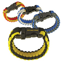 "Premium 9"" Paracord Survival Bracelet with Whistle-Military"