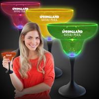 Neon LED Margarita Glasses