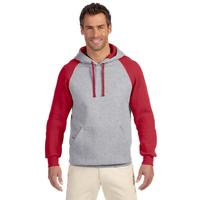 Adult 8 oz. NuBlend(R) Colorblock Raglan Pullover Hood
