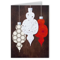 Holiday Ornament Design Greeting Card with Ornament