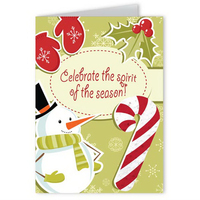 Celebrate the Season Holiday Greeting Card with Candy Cane