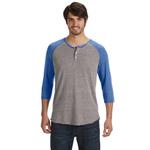 Men's Eco-Jersey 3/4-Sleeve Raglan Henley