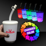 12 Ounce LED Cup with Lid and Straw
