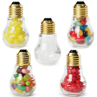 Mini Light Bulb Shape Glass Jar with Red Hots