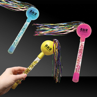 "9"" Tinsel Maracas in Assorted Colors"