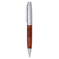 Wood Twist Action Mechanical Lead Pencil