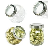 Desktop Glass Jar Small See Thru Lid with Cashews