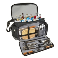 Twelve piece barbecue set and cooler