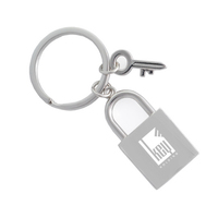 Metal Lock & Key Key Tag