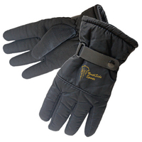 Black Water-resistant Winter Glove with Gripped Palm/Fingers