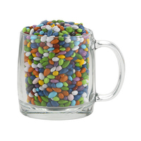 13 oz Nordic Glass Mug w/chocolate sunflower seeds