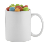 11 oz. Ceramic C-handle Classic Mug with Smiley Sour Poppers