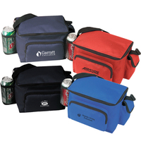 Poly 6 Pack Cooler Lunch Bag