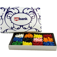Large Rectangle Custom Candy Box with Corporate Jelly Beans