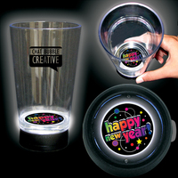 Happy new Year 16 Oz Bottom Lit Light Up Cup