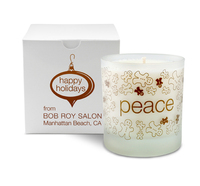 Peace Holiday Candle, 11 oz.- Frosted Tumbler